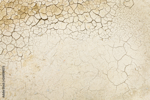 Canvas Print Drought background. Dried soil.