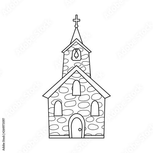 Photographie Isolated object of church and catholic symbol