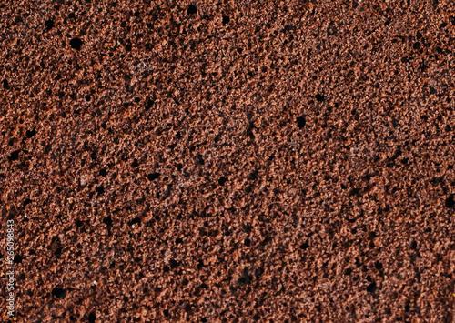 Fotografia, Obraz Sponge cake of chocolate close up macro