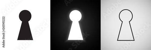 Fotografia Keyhole vector icons