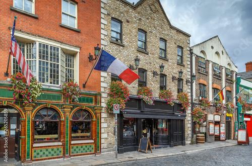 Canvas Print Temple Bar street, Dublin, Ireland