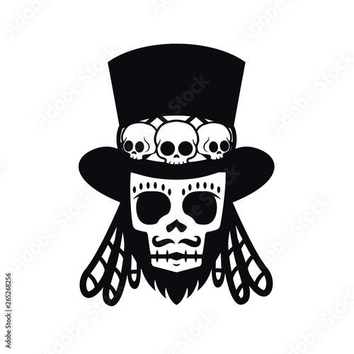 Fotografie, Tablou Papa Legba voodoo man Halloween illustration vector