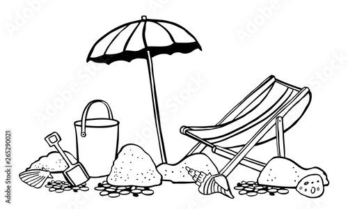 Obraz na plátně Beach scene