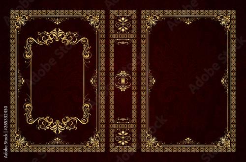 Foto Vector classical book cover