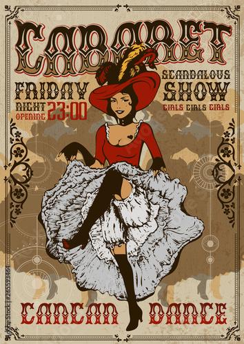 Cabaret show poster invitation Poster Mural XXL