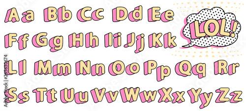 Fotografie, Obraz Set of cute lol doll alphabet