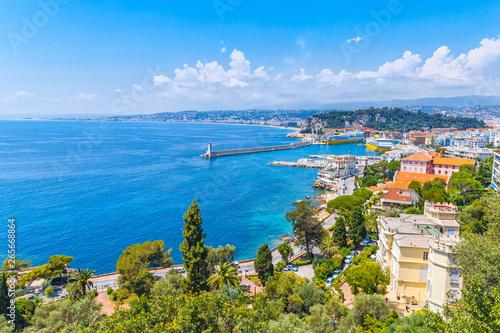 Платно Amazing view of luxury resort Nice on French Riviera at Mediterranean Sea