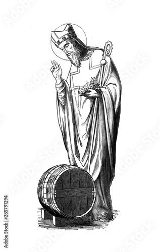 Canvas Print Christian illustration. Old image