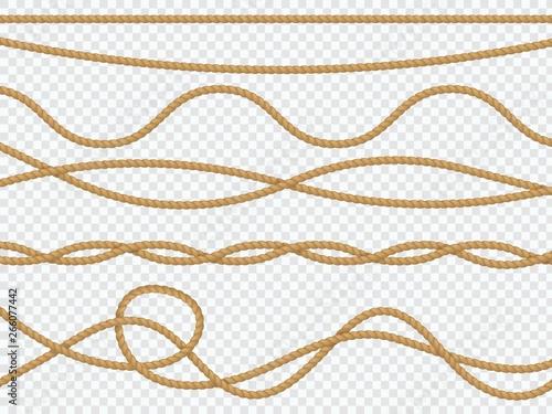 Fotomural Realistic fiber ropes