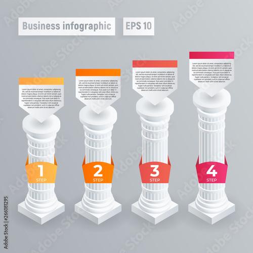 Fotografie, Obraz Pillar infographic