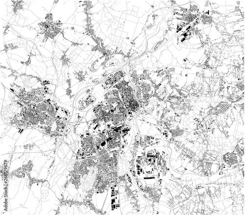 Fotografie, Obraz Satellite map of Ostrava