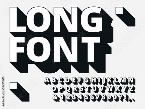 Long shadow font Fototapeta