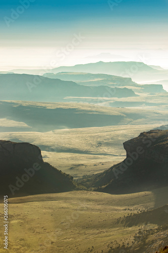 south africa landscape at sunset Wall mural