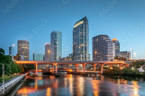 Canvas-taulu Tampa Bay Florida Skyline