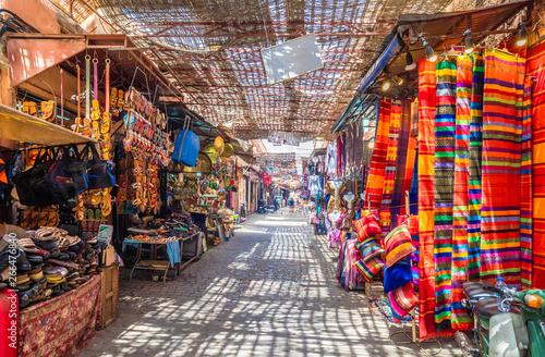 Fotografie, Tablou Souvenirs on the Jamaa el Fna market in old Medina, Marrakesh, Morocco