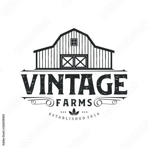 Photographie Vintage farm logo design