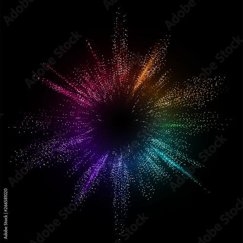 Stampa su Tela Burst color vector background