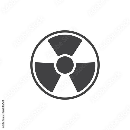 Stampa su Tela Radiation vector icon