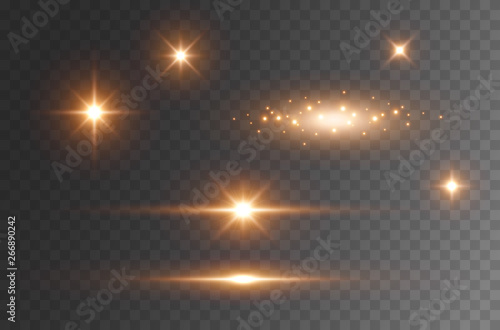 Fotografie, Tablou Star burst with sparkles isolated on transparent background