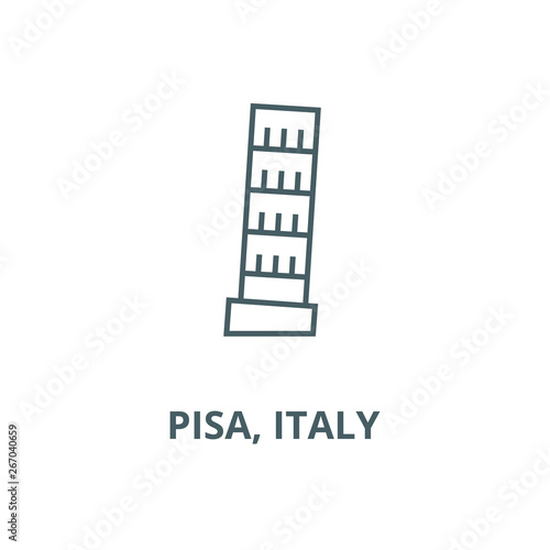 Photo Pisa, italy vector line icon, outline concept, linear sign