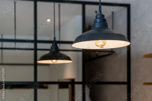 Obraz na płótnie インダストリアルな雰囲気のランプシェード