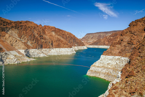 Low water in Lake Mead in autumn.View from the Arizona side.USA Fototapeta