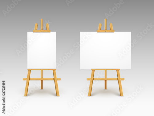 Wallpaper Mural Easel canvas stand vector board isolated