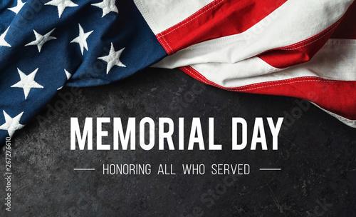 Obraz na plátně Memorial Day - Honoring All Who Served