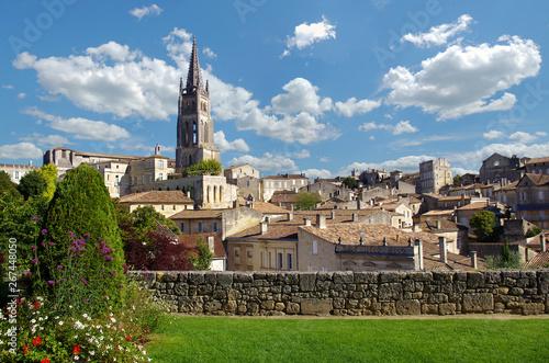 Tablou Canvas Large view on Saint Emilion village. Gironde, Aquitaine, france