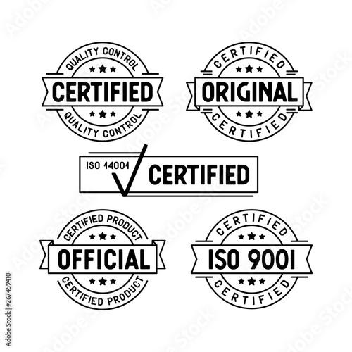 Fotomural Certified stamps set. Vector illustration.