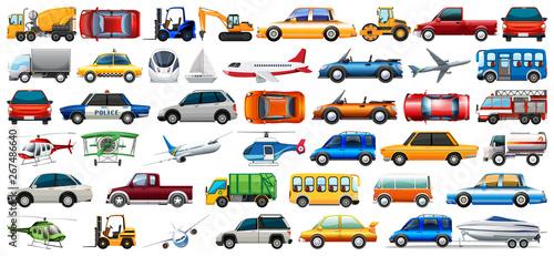 Obraz na płótnie Set of transportation vehicle