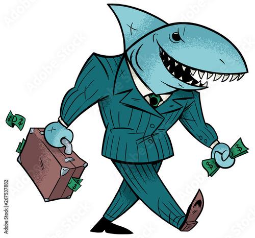 Business Shark Isolated Fototapeta