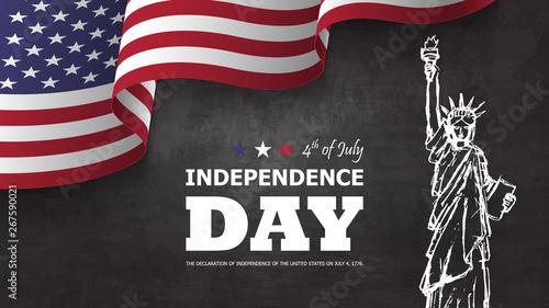 Obraz na płótnie 4th of July happy independence day of america background