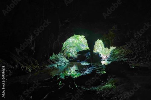 西表島の洞窟 Fototapet