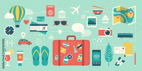 Carta da parati Summer vacations and international traveling