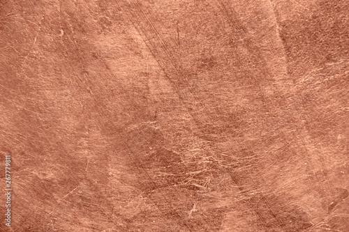 Vászonkép Abstract brushed copper surface metallic texture