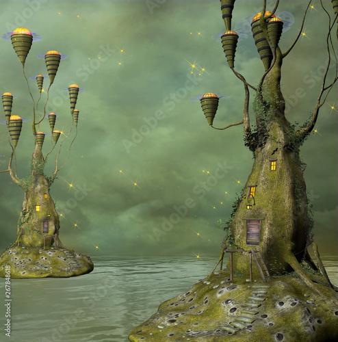 Canvas Print Fantasy water world
