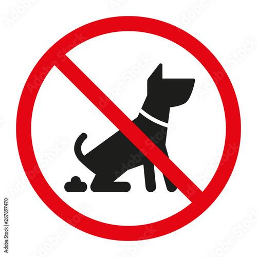 Zakaz wyprowadzania psów wektor #267897470