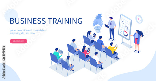 Fotografia Business training or courses concept