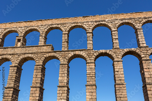 Leinwand Poster Segovia aqueduct ruins