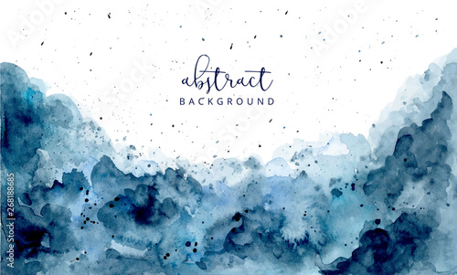 Foto blue abstract watercolor texture background
