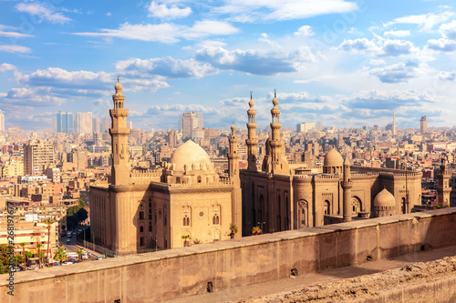 Photo View on the Mosque-Madrassa of Sultan Hassan, Cairo, Egypt