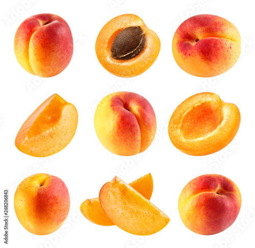 Fotografie, Obraz Apricot isolated Clipping Path