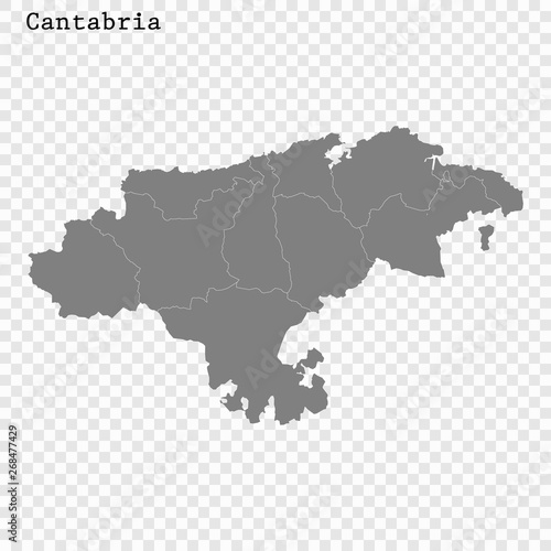 High Quality map is a state of Spain