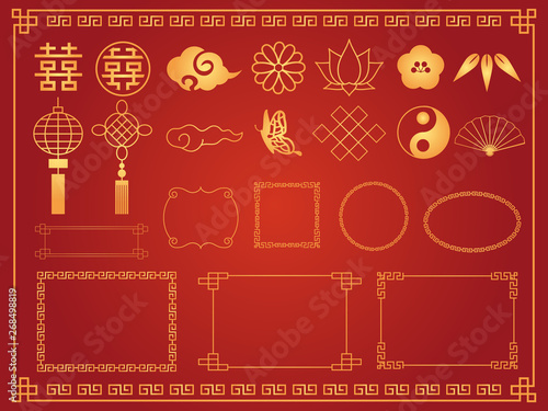 Murais de parede 中華模様 素材集2