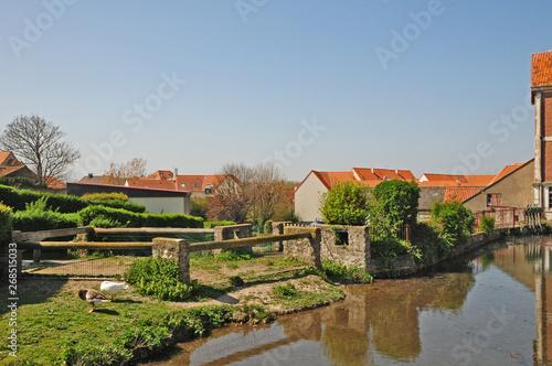 Obraz na plátně Il villaggio di Wissant,  Pas-de-Calais, Hauts-de-France,