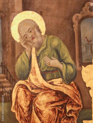 Fototapeta Fresco of Saint Peter in Church of the Holy Sepulchre, Jerusalem