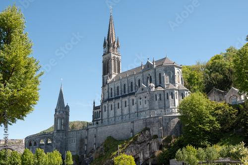 Obraz na plátně Upper Basilica - Lourdes France
