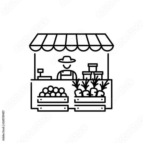 Obraz na płótnie Vector Farmers Market Stall Icon