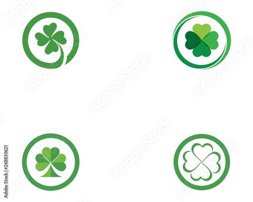 Cuadros en Lienzo Clover leaf logo icon design template vector